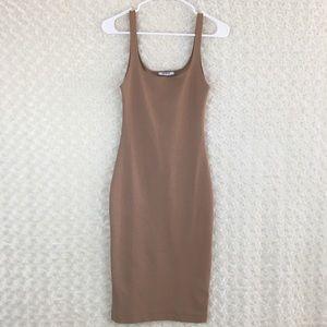 b3fba28c Zara Dresses   Womens Nude Sleeveless Bodycon Midi Dress   Poshmark